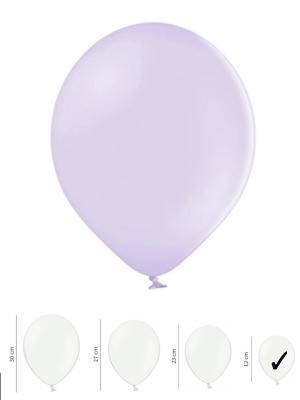 100 gb, Pasteļtoņu baloni, gaiši violeti, 12 cm