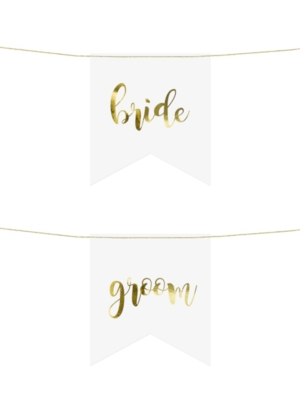 2 gb, Krēslu zīmes - Bride/Groom, 20 x 21,5 cm