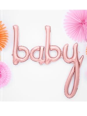 Folija balons Baby, rozā zelts, 73x75cm