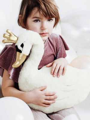 Plush toy Lovely Swan, 34x35cm