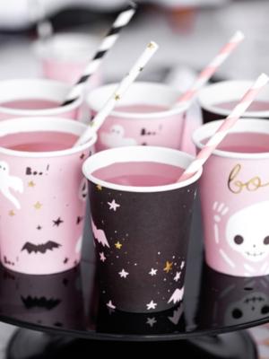 6 pcs, Paper cups Boo!, mix, 220ml