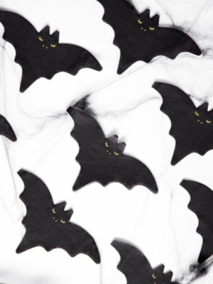 20 pcs, Napkins - Bat, 16x9cm