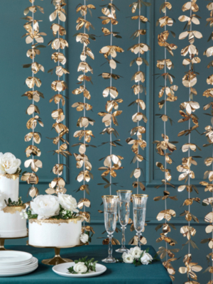 Ziedu aizskars, zelta, 100 x 210 cm