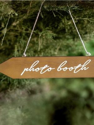 Wooden signpost Photo booth, 36x7.5cm