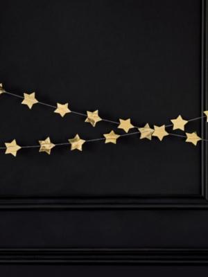 Virtene - Zvaigznes, zelta, 5 х 360 cm