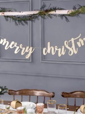 Koka virtene Merry Christmas,  17 х 87 cm