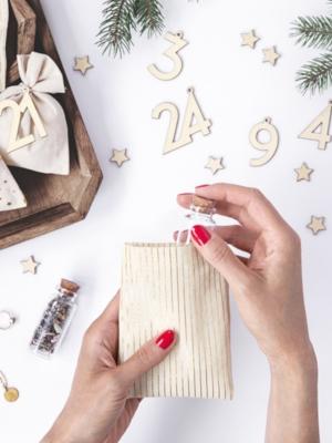 Adventes kalendārs, 24 maisiņi un cipariņi - Maisiņi