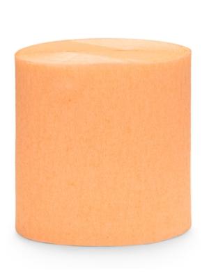 4 gab, Kreppapīra ruļļi, gaiši oranži, 5 cm x 10 m