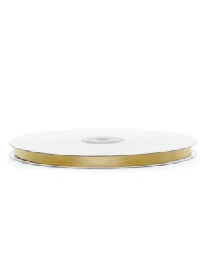 Атласная лента, светло-золотая, 6 мм х 100 м