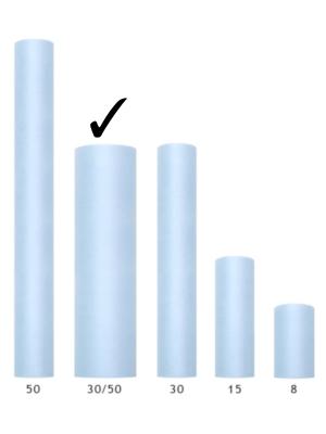 Cietais tills, gaiši zils, 0.3 x 50 m