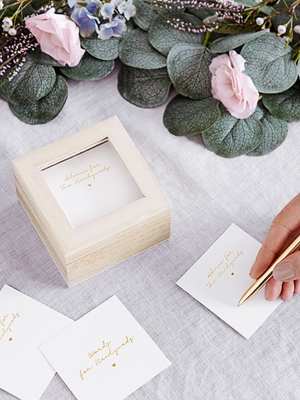 Guest book - wedding advice box, 9.5 x 9.5 x 6cm