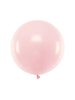 1 metra balons, gaiši rozā, pasteļtonis
