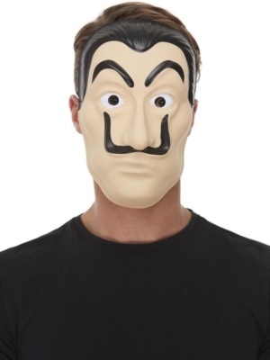 Surreal Artist/Bank Robber Mask, Beige