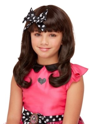 Santoro Ladybird Wig, Dark Brown