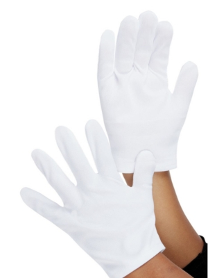 Kids Gloves, White (6-12 age)