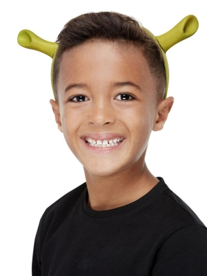 Shrek Ears On Headband, Green