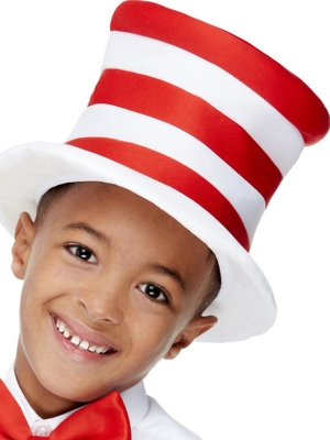 Kids Stripy Hat, Red & White