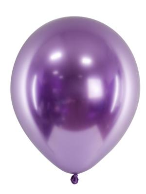 Chrome Balloons, violet, 27cm