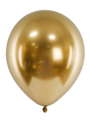 Chrome Balloons, gold, 27 cm