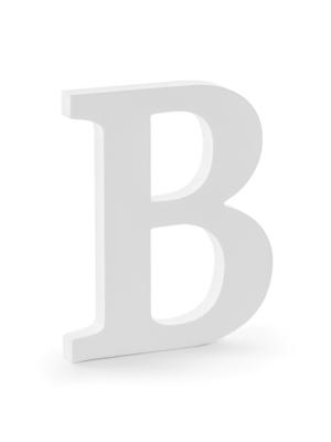 "Koka burts ""B"", balts, 16.5 x 20 cm"
