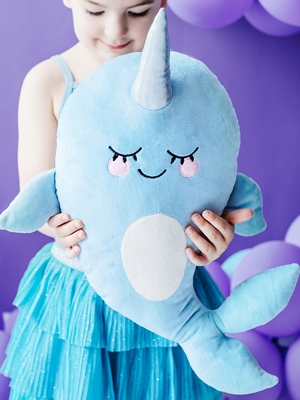 Pillow Little Star - Narwhal, 36x51cm