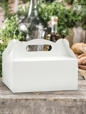 10 шт, Декоративные коробки для торта, белые, 19 x 14 x 9 см