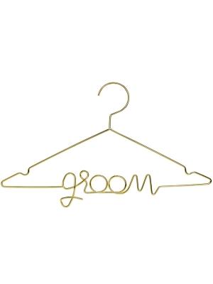Metal hanger Groom, gold, 45x27cm