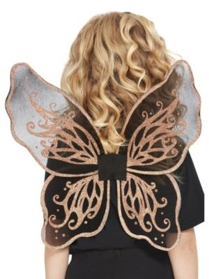 Крылья бабочки, черные с золотым