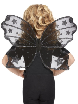Dark Botanicals Butterfly Wings, Black