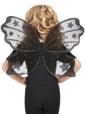 Крылья бабочки, черные