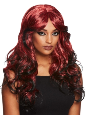 Gothic Temptress Wig, Black & Red