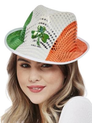 Gliteru cepure Īrijas karoga krāsās