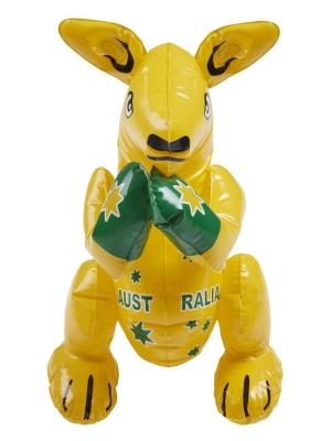 Piepūšams ķengurs, dzeltens, 40 cm