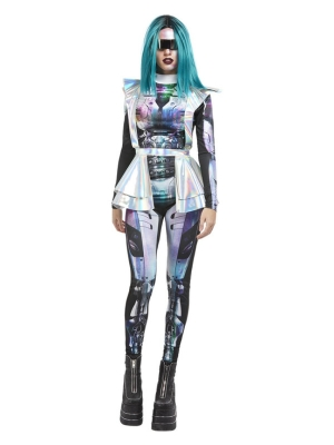 Metallic Space Alien Costume, Multi
