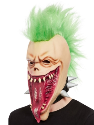 Punk Skull Overhead Mask, Latex
