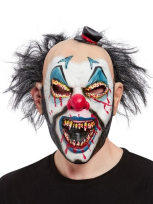 Evil Clown Overhead Mask, Latex