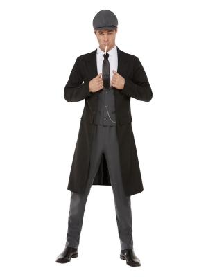 20s Blinding Gangster Costume, Black & Grey