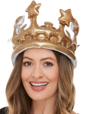 Inflatable Crown, Gold, 23 cm