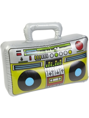 Inflatable Boom Box, Silver, 38 cm