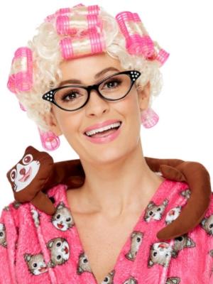 Roller Granny Wig, Blonde