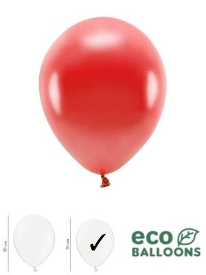 100 gab, Perlamutra eko baloni, sarkani, 26 cm