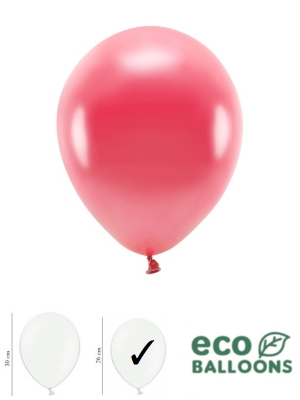 100 gab, Perlamutra eko baloni, gaiši sarkani, 26 cm