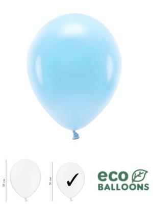 100 шт, Пастельные эко шары, небесно-голубой, 26 см