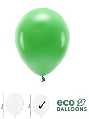 100 gab, Pasteļu eko baloni, zāles zaļi, 26 cm