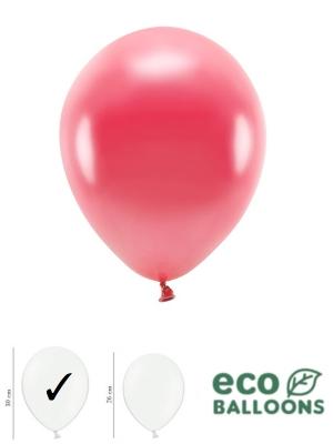 100 gab, Perlamutra eko baloni, gaiši sarkani, 30 cm