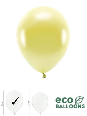 100 gab, Perlamutra eko baloni, gaiši dzelteni, 30 cm