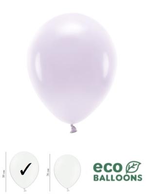 100 gab, Pasteļu eko baloni, gaiši violeti, 30 cm