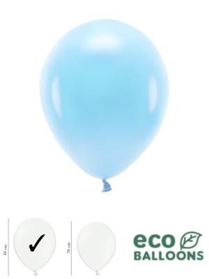 100 gab, Pasteļu eko baloni, debesu zili, 30 cm