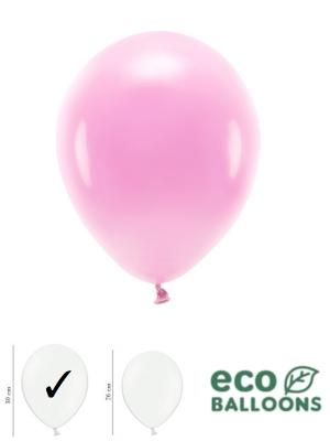 100 gab, Pasteļu eko baloni, rozā, 30 cm