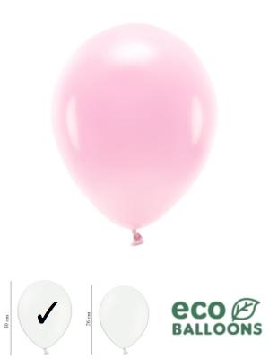 100 gab, Pasteļu eko baloni, gaiši rozā, 30 cm